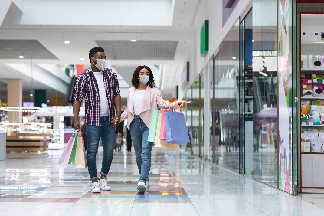 Department stores saw strong sales gains in January.