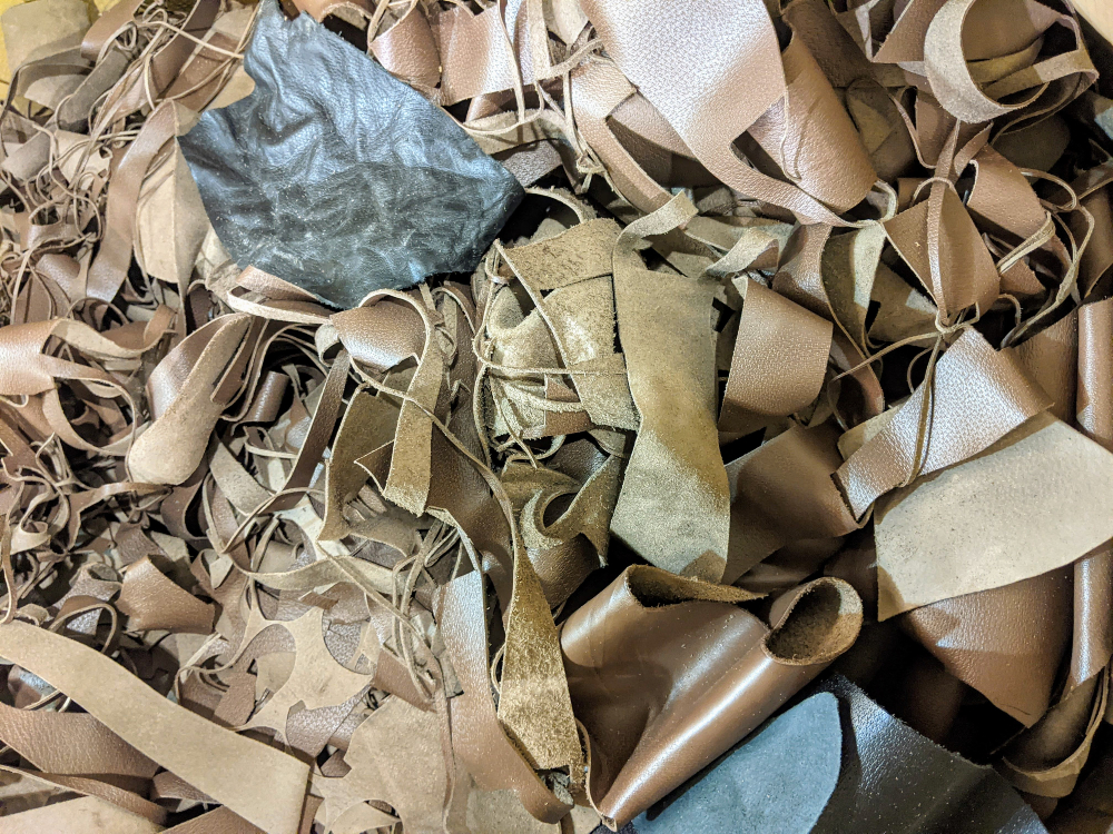 Enspire Leather recycles scraps into a more sustainable version of the animal skin.