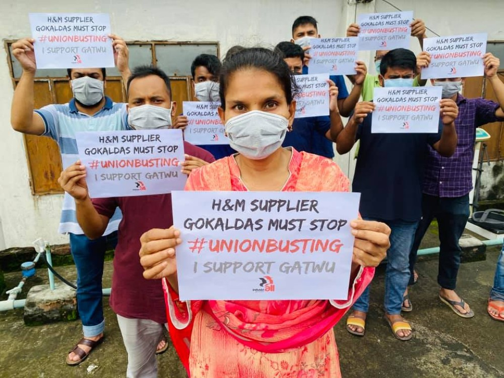 More than 1,200 unionized garment workers have been awarded back their jobs after an Indian factory that serves H&M fired them last June.