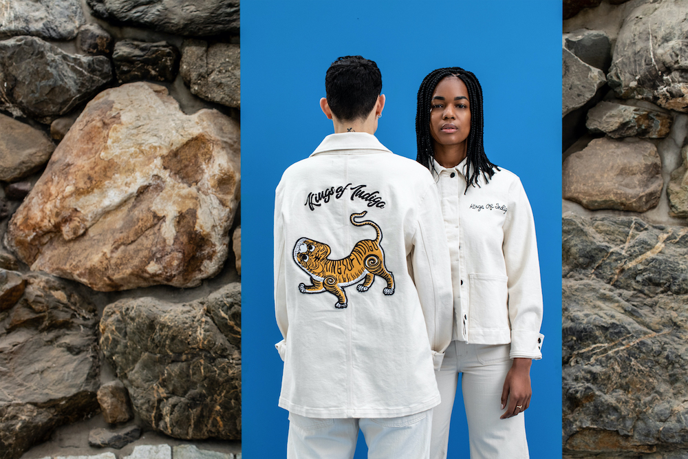 Kings of Indigo and Candiani collaborated on a capsule collection for men, women, and kids centered on sustainable patchwork denim.