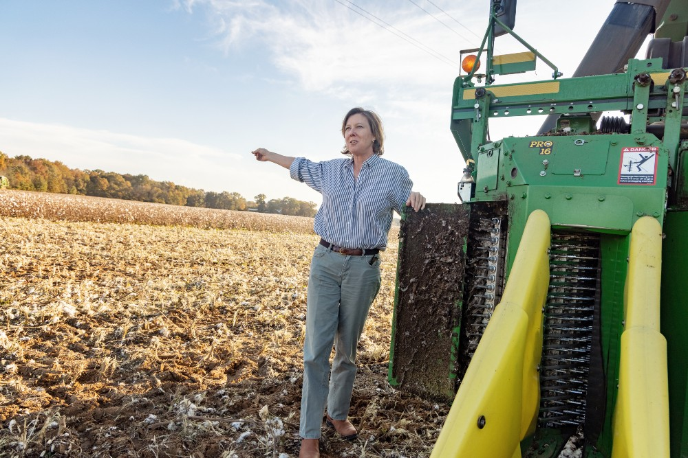 Larkin is a leader in the regenerative agriculture movement in the South. At her family farm in Alabama, Larkin grows cotton, corn, soybeans and wheat and has been rotating her cash crops for nearly a decade. Larkin has been the chair of the Farm Foundation Board since 2019.