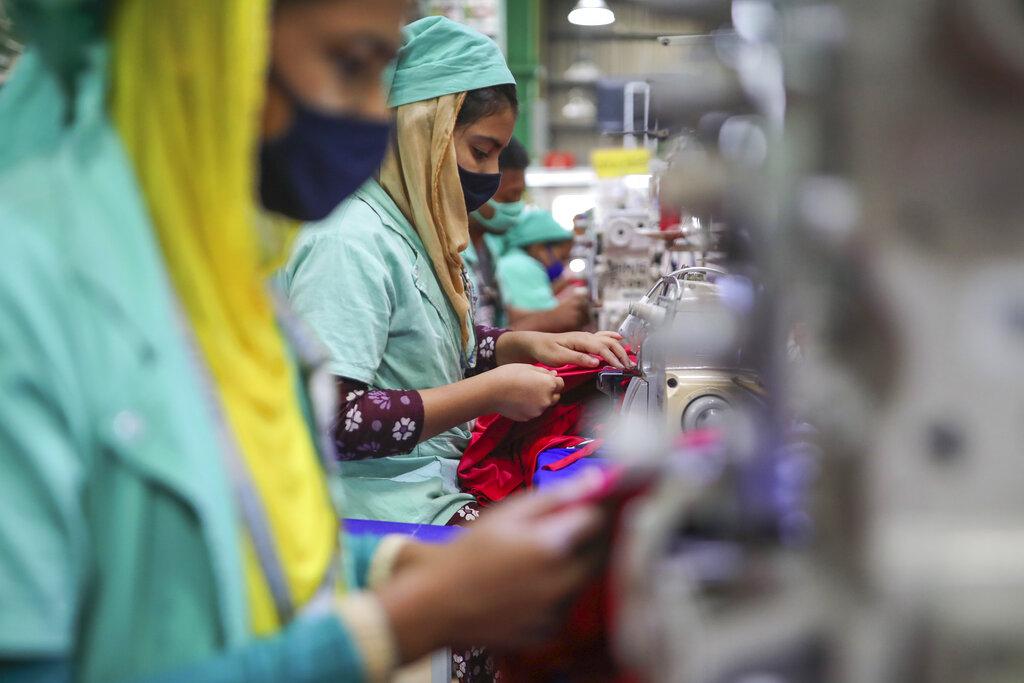 A fire on Saturday tore through a warehouse at a Bangladesh garment factory.