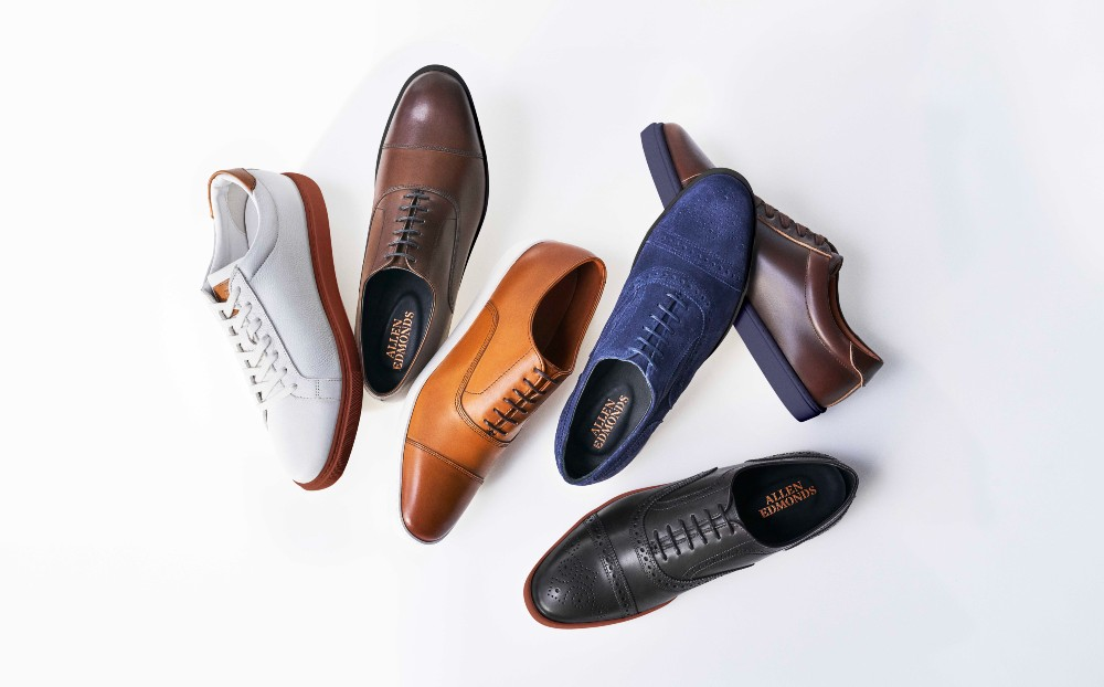 Allen Edmonds' expanded customization tool includes the brand's Park Avenue Oxford, Strand Oxford and Courtside sneakers.