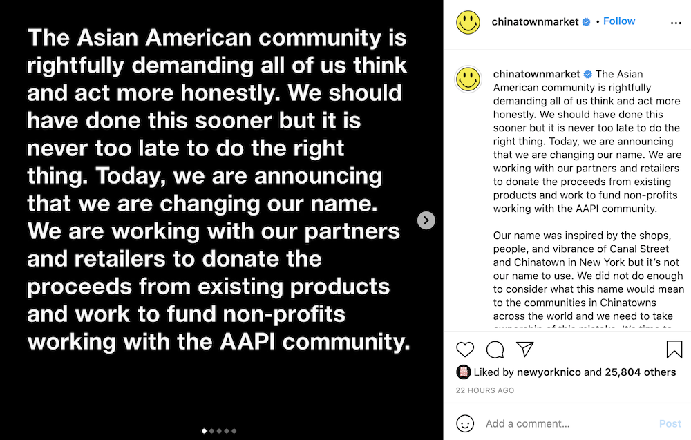 Streetwear brand Chinatown Market announced an upcoming rebrand after a petition and social media movement called for it.