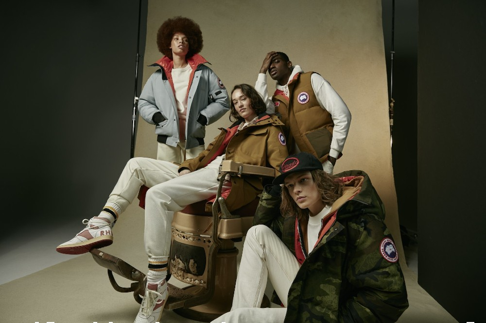 Canada Goose's NBA All-Star collection, designed with Rhude, includes a vest, bomber jacket, parka and trench coat