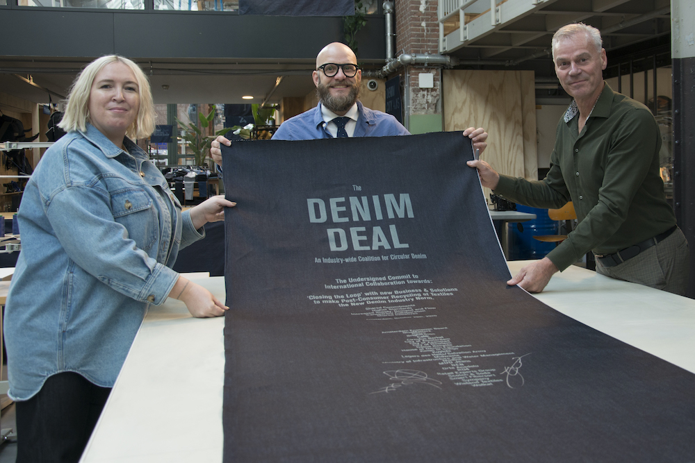 Signatories of the Denim Deal commit to a new standard of using at least five percent recycled fibers in all denim products.