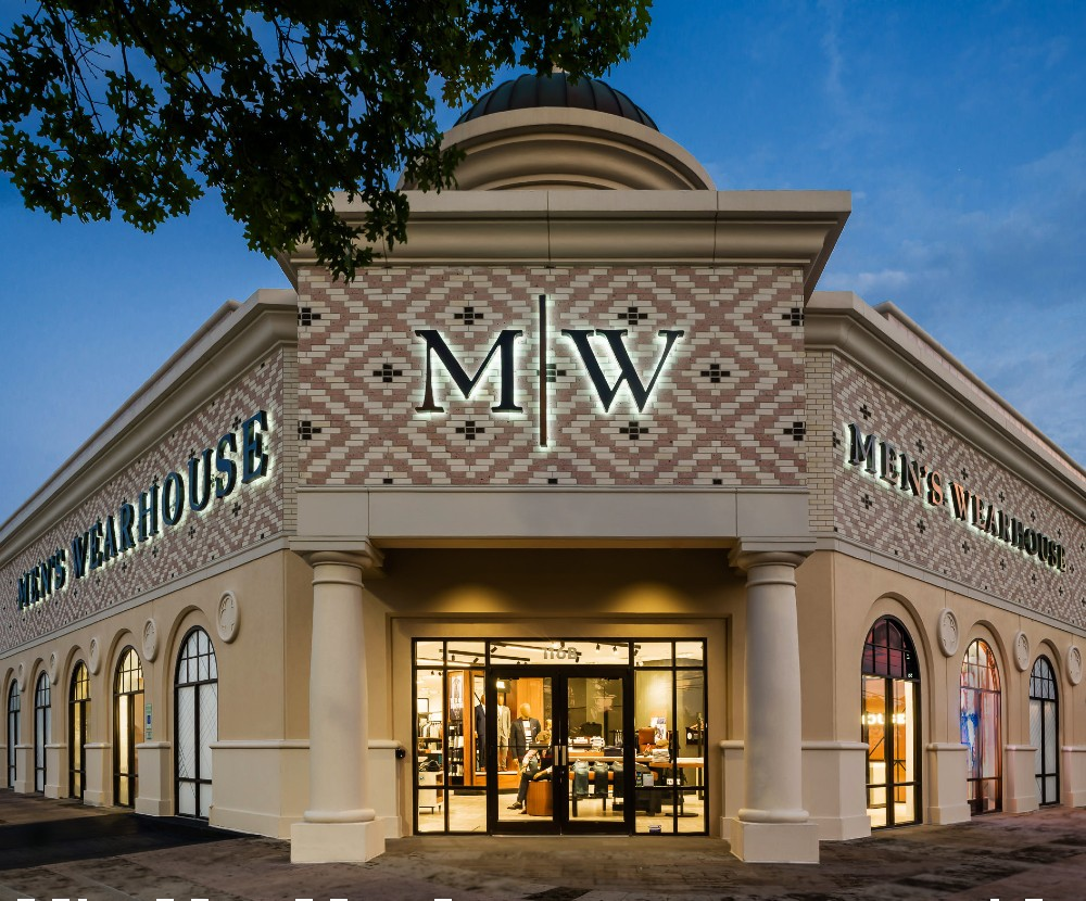 """Tailored Brands' Men's Wearhouse recently opened two """"Next-Gen"""" stores, including one in Shenandoah, Texas."""
