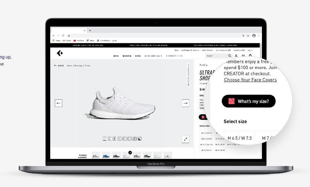 MySize launched its footwear sizing solution