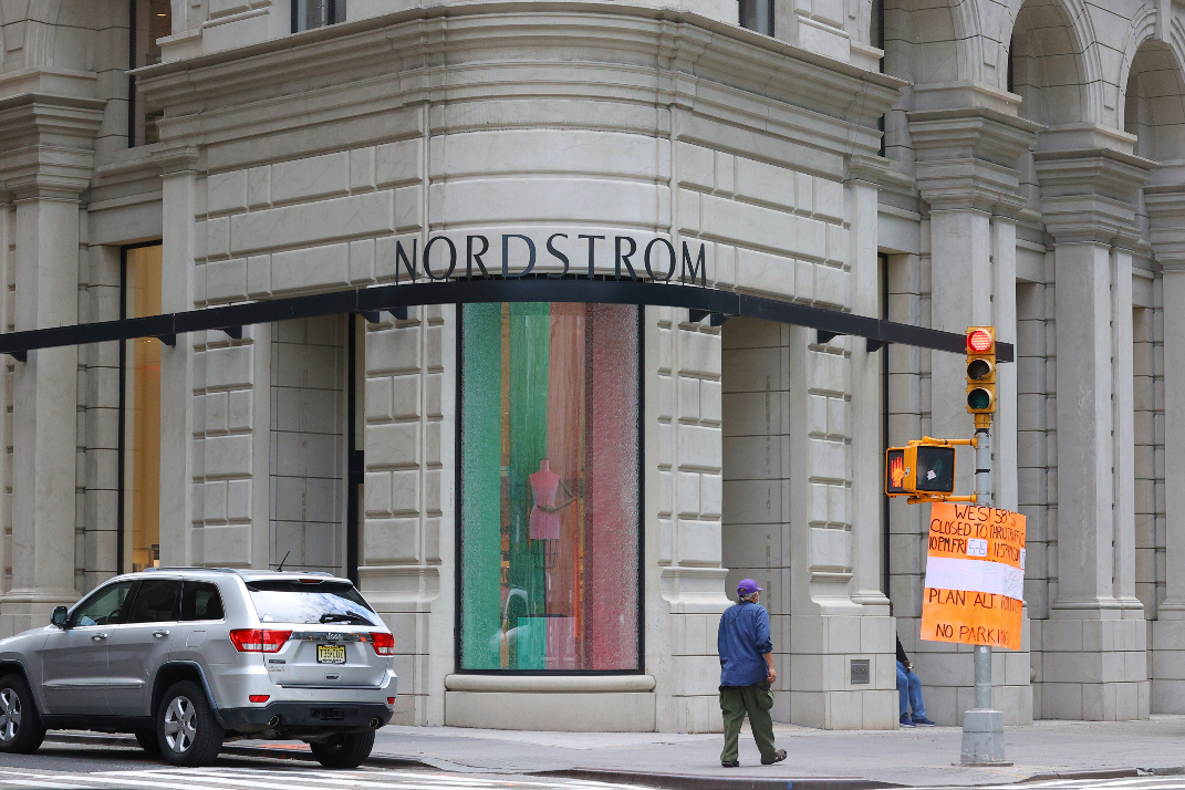 Nordstrom's suing over property insurance coverage on damage from civil unrest; claims of two other fashion firms are Covid-related.