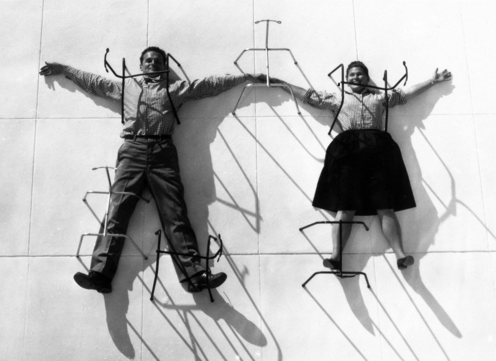 Charles and Ray Eames served as the public face of Reebok's new collaborator, Eames Office
