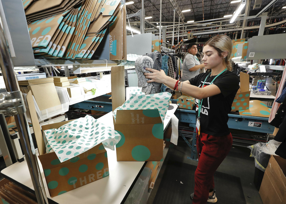 ThredUp has filed an initial public offering at an expected price between $12 and $14 per share, which would raise up to $168 million.