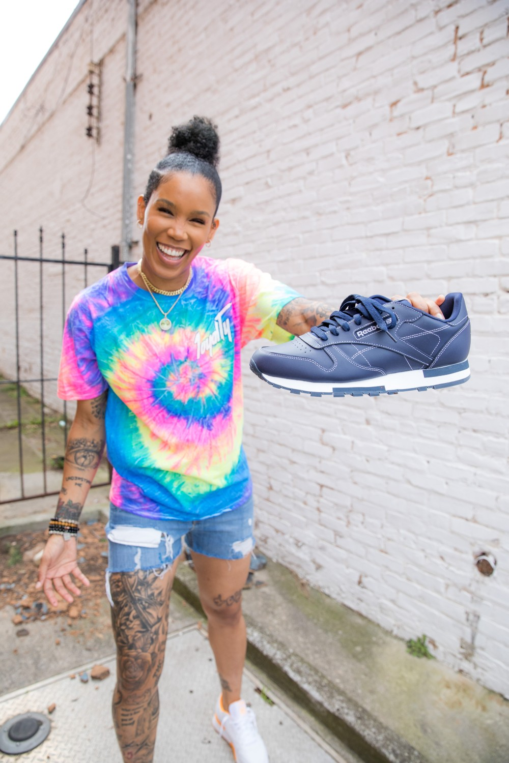 Foot Locker and Reebok teamed up with the Seattle Storm's Tamera Young to release its Classic Leather Threads collection.