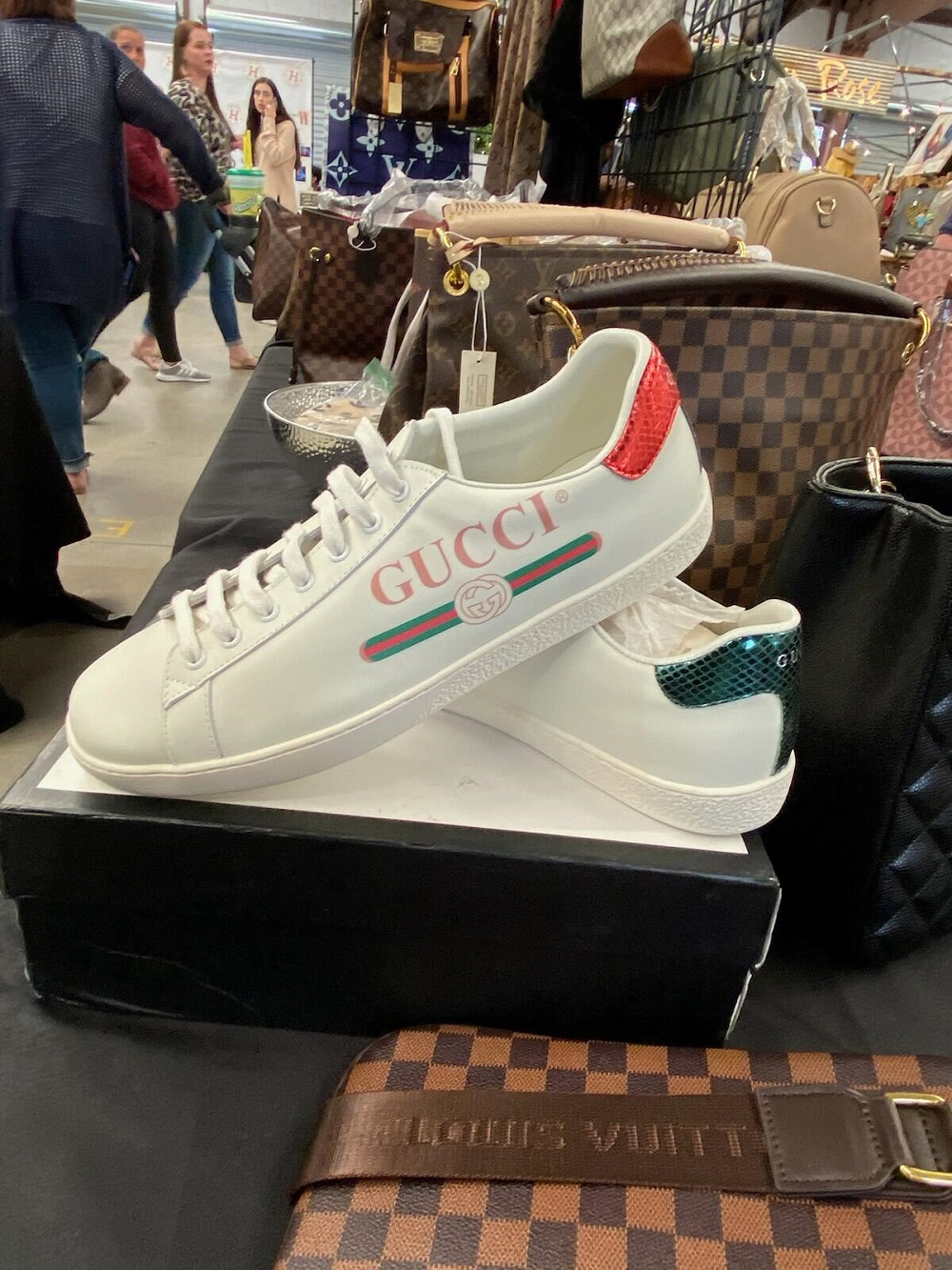 Homeland Security Investigations Dallas special agents seized $1.3 million in counterfeit shoes, bags and goods ripping off Gucci, LV, YSL.
