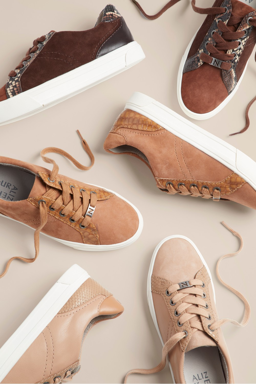 Naturalizer's expanded True Hues collections introduces nude sneakers