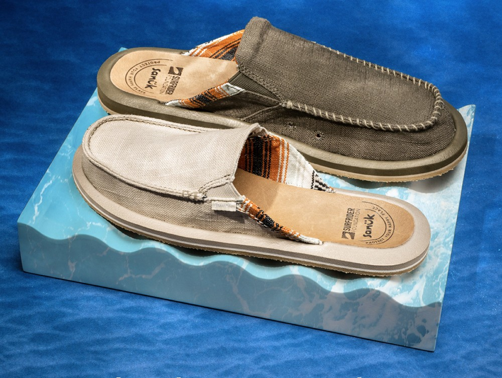 Sanuk partnered with Surfrider Foundation on the We Got Your Back outdoor slipper