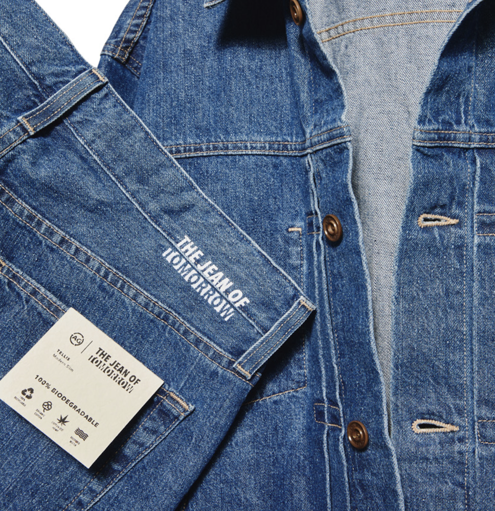 """AG launched """"jean of tomorrow,"""" a 100 percent biodegradable denim collection for men and women made of hemp, organic cotton and Tencel."""
