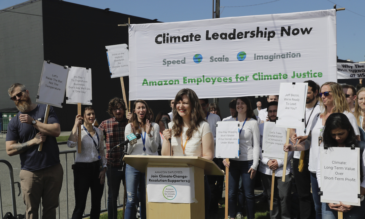 The National Labor Relations Board said Amazon illegally fired two prominent employees in 2020 who openly criticized the e-commerce giant.