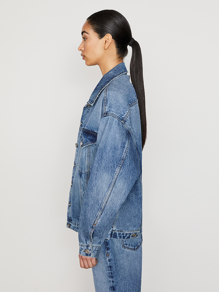 Frame's Ellen line features denim designed in accordance with Ellen MacArthur Foundation's Jeans Redesign program, a circularity initiative.
