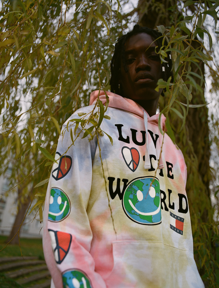 "Sustainable and comfortable, Tommy Jeans' new genderless ""Luv the World"" collection is brimming with tie-dye and positive messages."