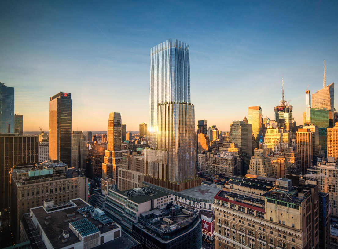 Macy's unveiled a $235 million plan to improve the Herald Square neighborhood and construct an office tower atop its iconic flagship store.