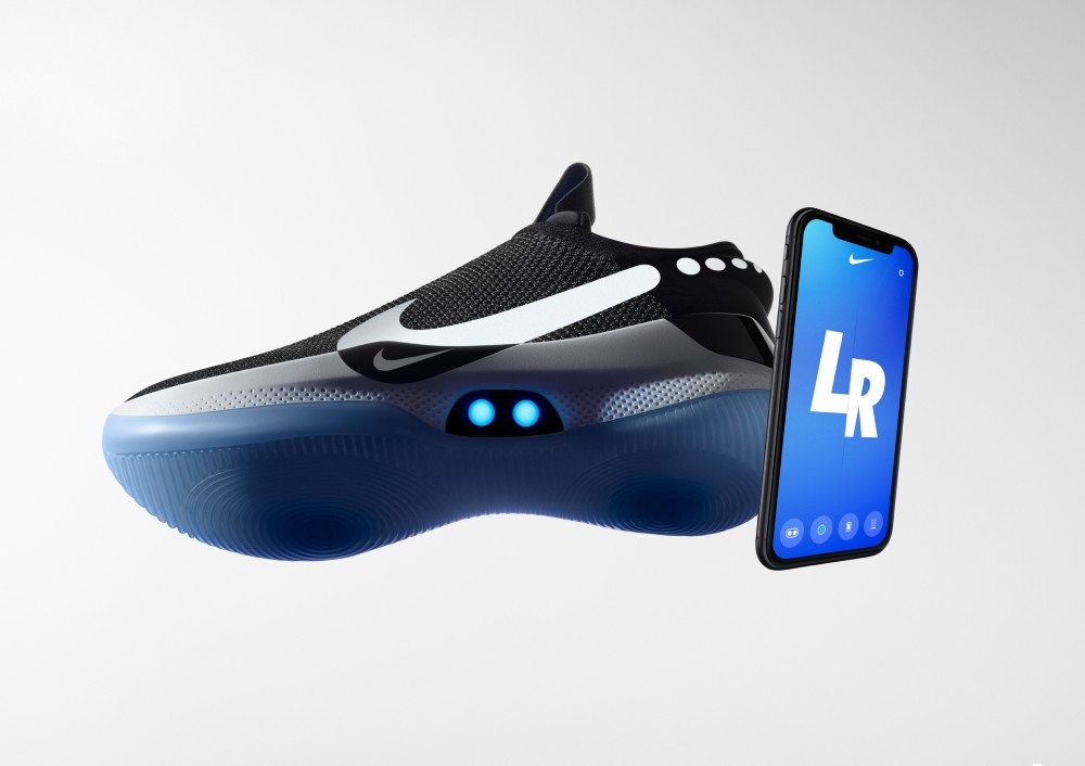 Nike's footwear technology push has included 2019's connected BB Adapt