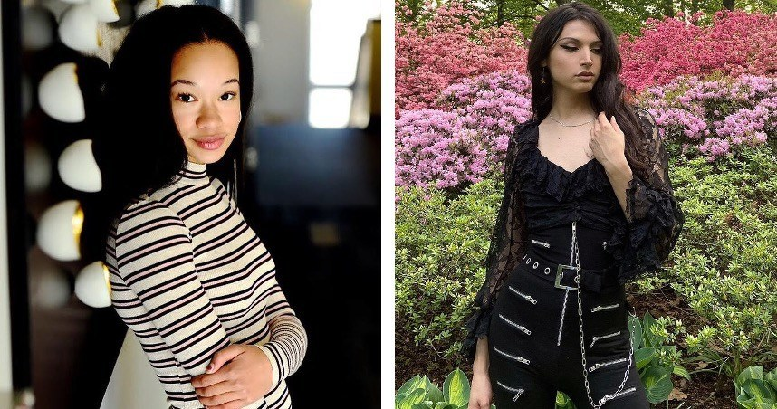 A panel of industry leaders chose Allegra Abrams (left) and Oli Perez (right) as the winners of PacSun and the Fashion Scholarship Fund's Gender-Neutral Design Competition