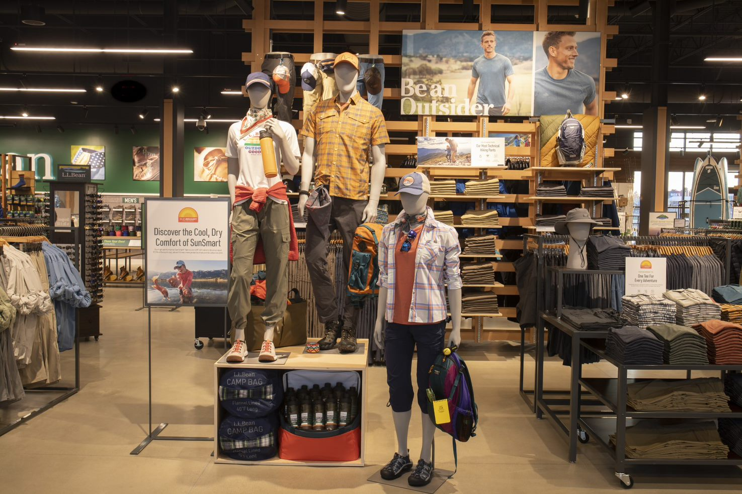 The interior of the upcoming L.L. Bean store in Salem, N.H., which is set to open on May 14.