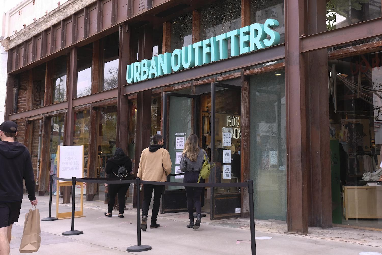 Urban Outfitters store at Third Street Promenade in Santa Monica, Calif., March 7, 2021. (Ringo Chiu via AP)
