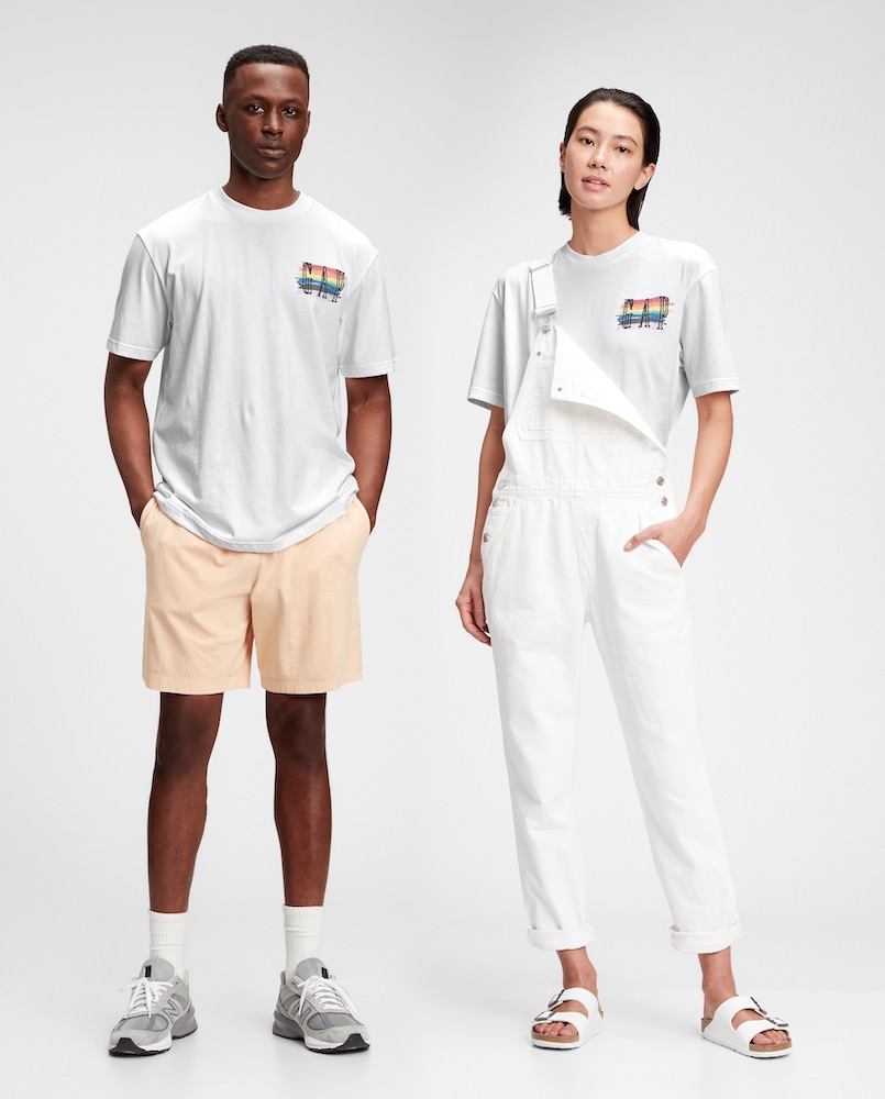 Gap tapped artists from G.E.A.R., an employee resource group that promotes an inclusivity, to design tees for Pride Month.