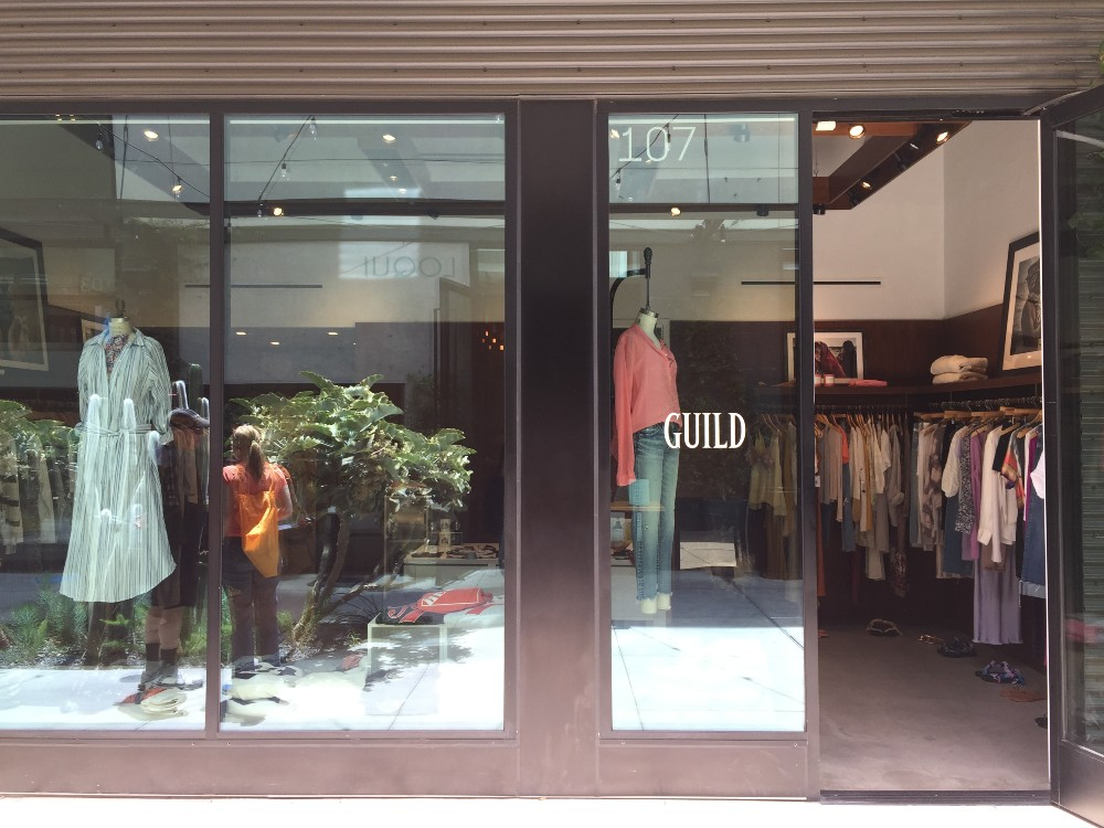 Guild, a womenswear boutique in the Culver City neighborhood of Los Angeles.
