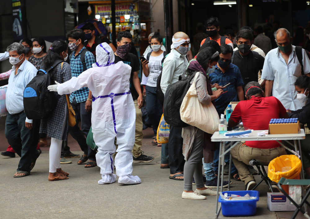 India is facing a massive surge in coronavirus infections, and factories in the garment-exporting nation are struggling to staying afloat.