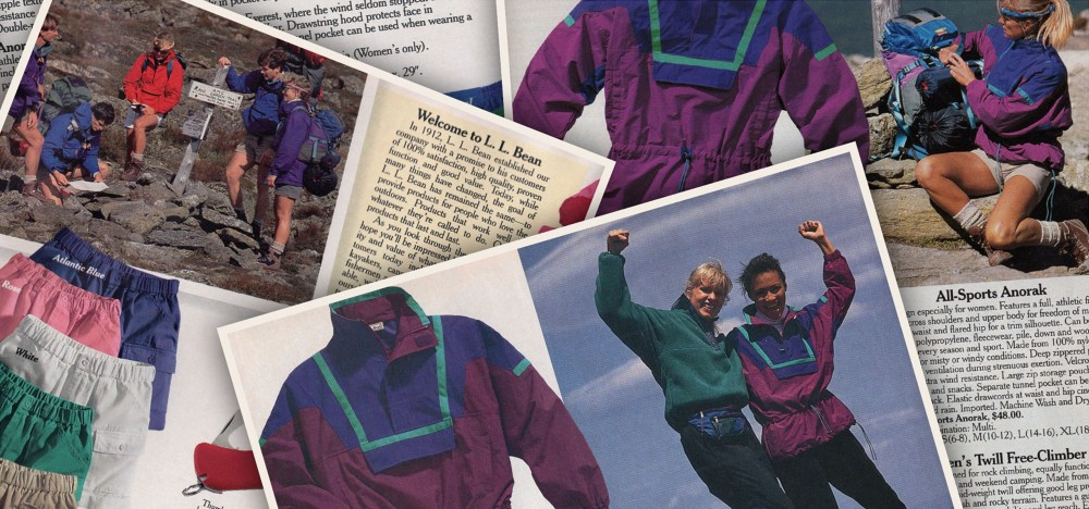 L.L. Bean has released '90s-inspired fashion capsule collection, including an anorak, bucket hat and matching tote, using upcycled fabrics.