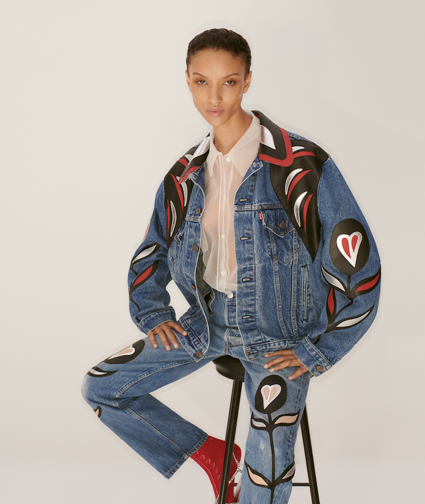 Upcycled by Miu Miu reimagines Levi's jeans.