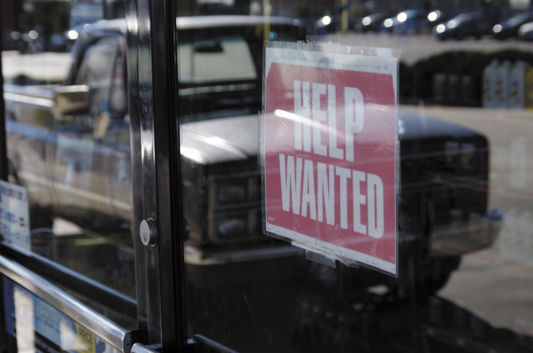 New claims for first-time unemployment benefits have declined, spurring some hope that the unemployed will be incentivized to seek a job.