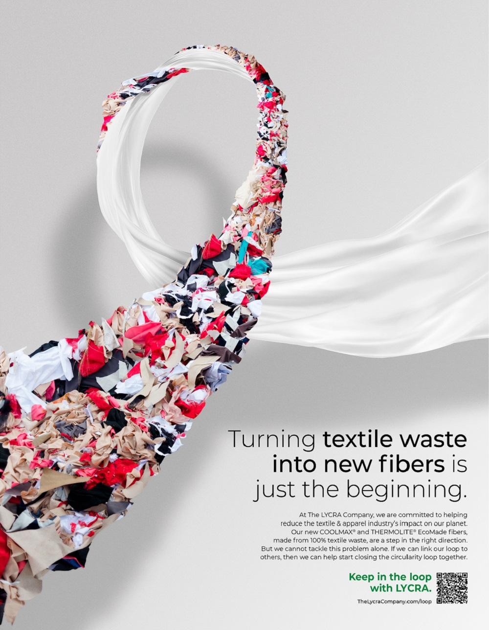 The Lycra Company has introduced a new marketing campaign aimed at advancing discussions around circularity in textiles.