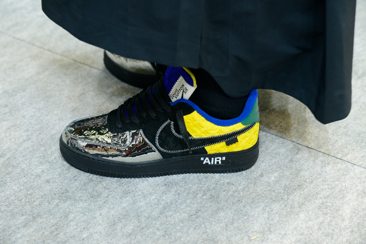 Nike collaborated with Louis Vuitton to bring high-fashion luxury to its popular Air Force 1 sneakers
