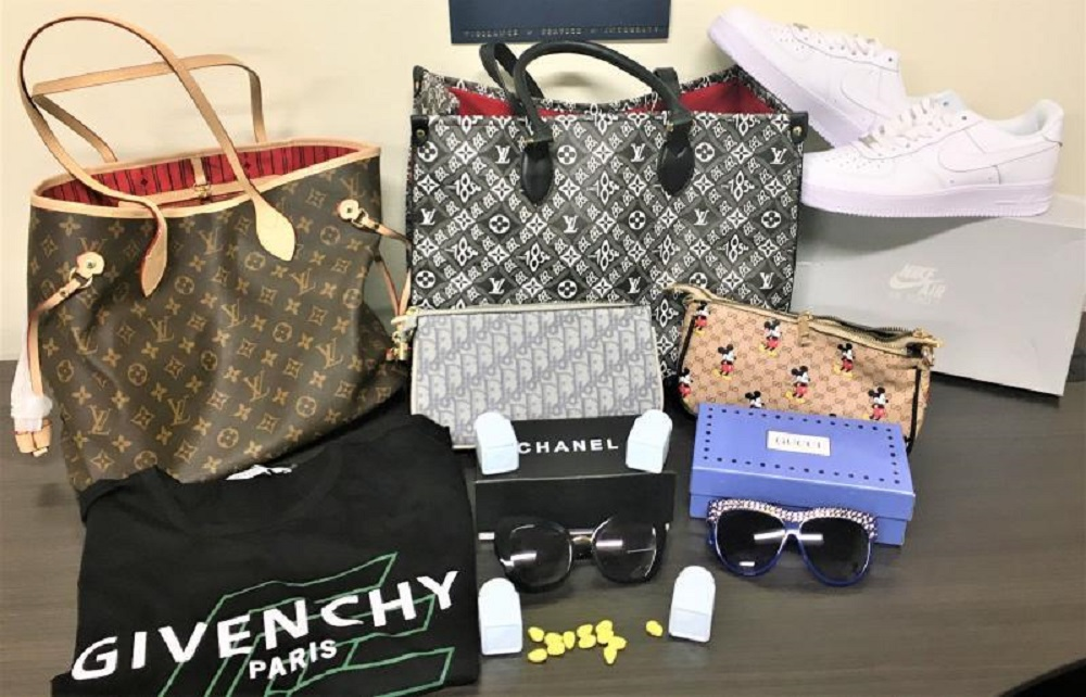 CBP officers at the L.A.-Long Beach seaport seized 57,607 counterfeit products arriving in a containerized cargo shipment from China.