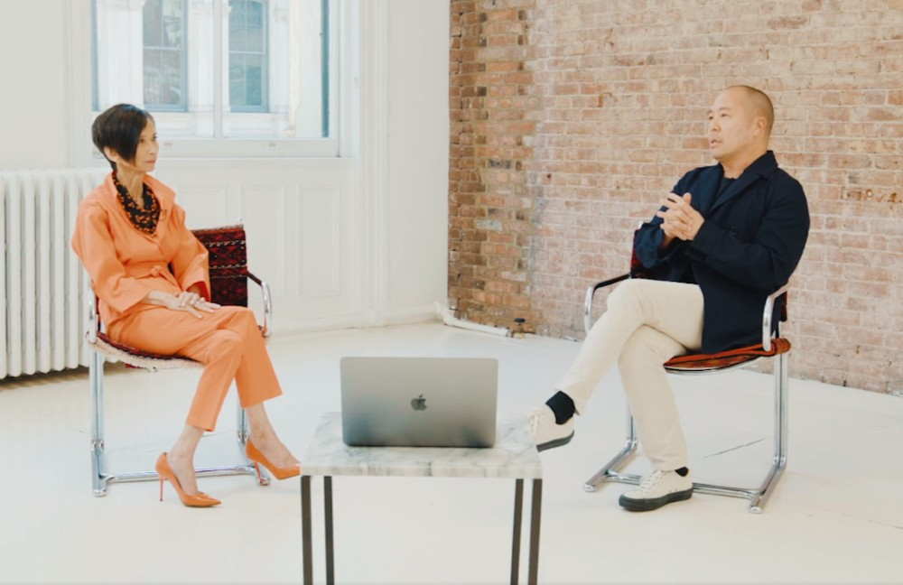 Designers Josie Natori and Derek Lam.