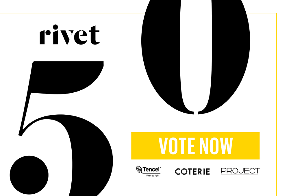 Online voting is now open for the Rivet 50, the annual index of the most influential leaders advancing the business of denim.