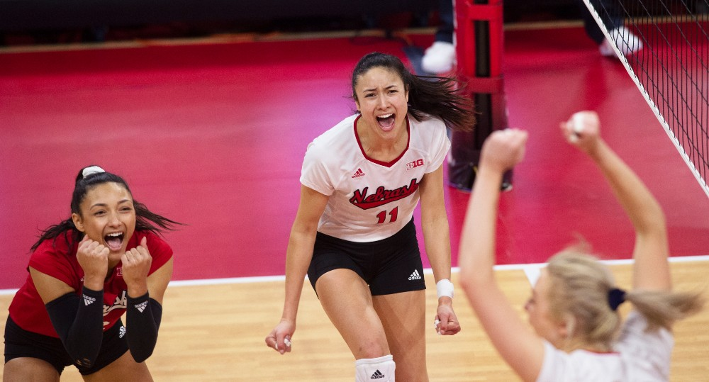 The University of Nebraska's volleyball star Lexi Sun released an oversized sweatshirt with REN Athletics first thing Thursday morning