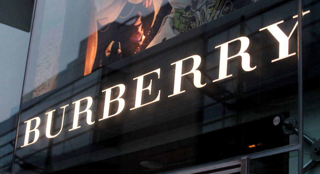Younger consumers with a penchant for luxury leather goods, outerwear and shoes drove the uptick in Burberry's first-quarter sales.
