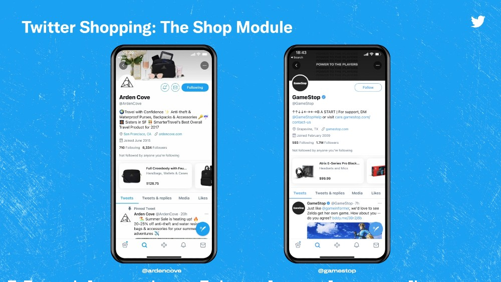 Twitter launched Shop Module, its new pilot social shopping pilot, Wednesday