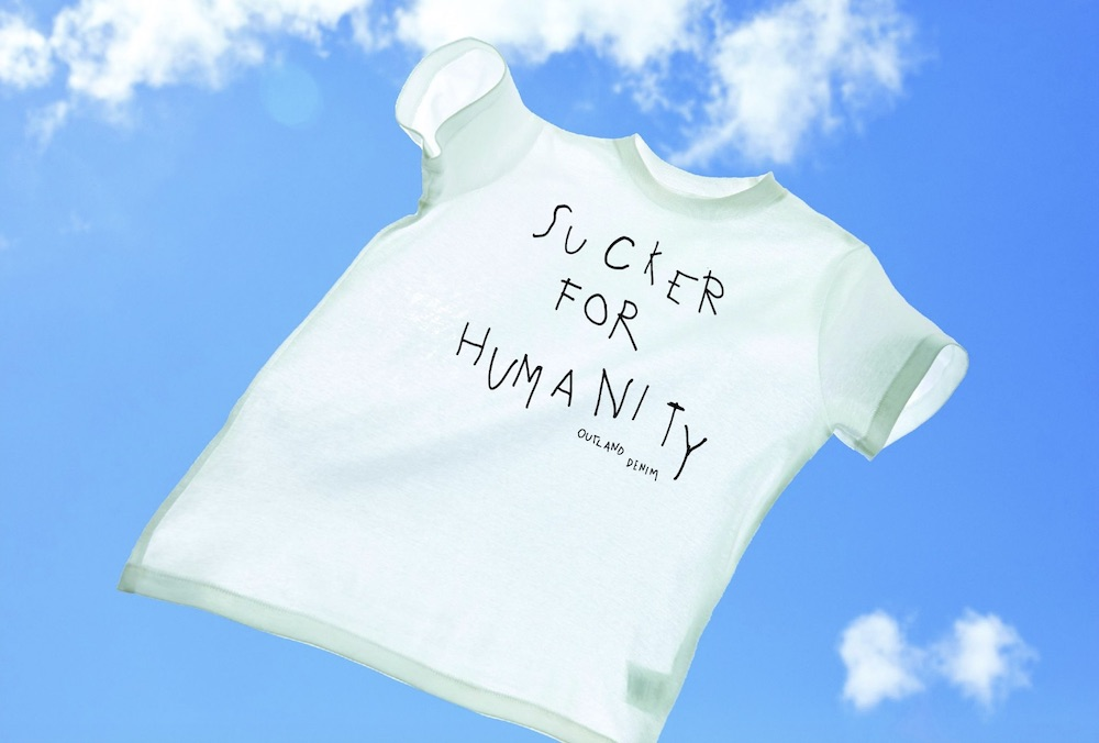 Outland Denim released Friday the 'Sucker for Humanity' T-shirt to support the UN World Day Against Human Trafficking.