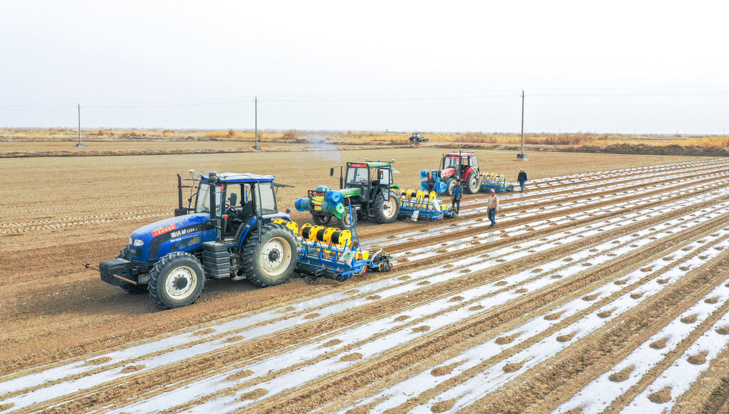 CHINA CHINESE XINJIANG KUQA AGRICULTURAL MACHINE COTTON FARMING