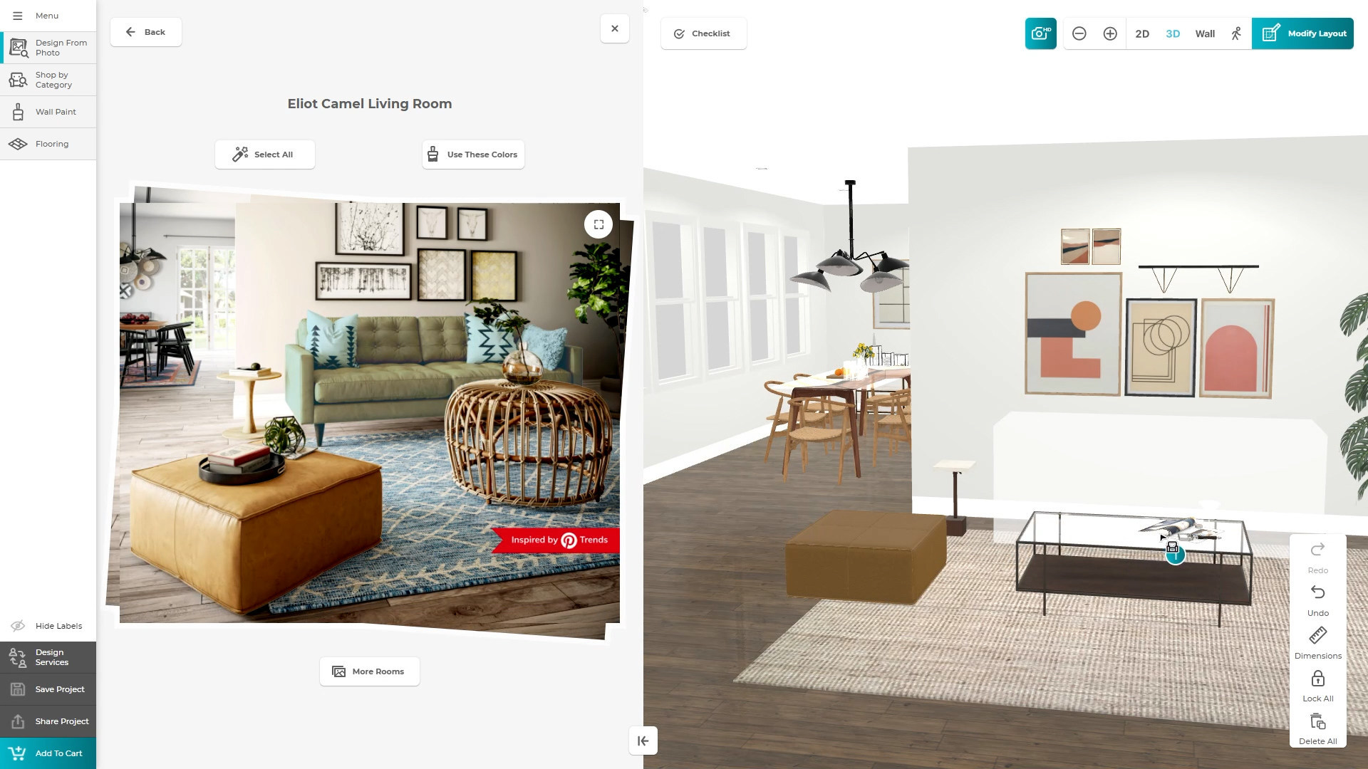 Customizable modern furniture and home improvement retailer Joybird is now offering shoppers a chance to design their own 3D living rooms using their own Pinterest photos and even buy used furniture for as much as a 55 percent discount.