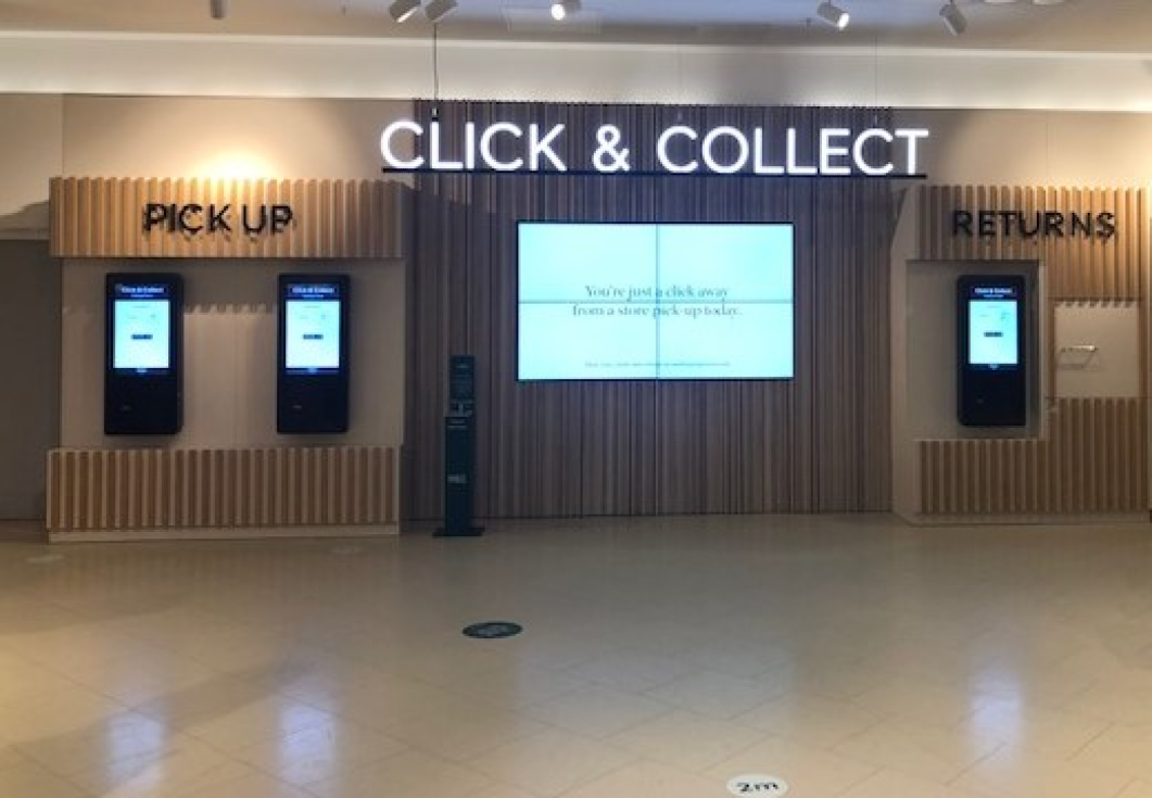 M&S is testing a digital, self-service click & collect program.