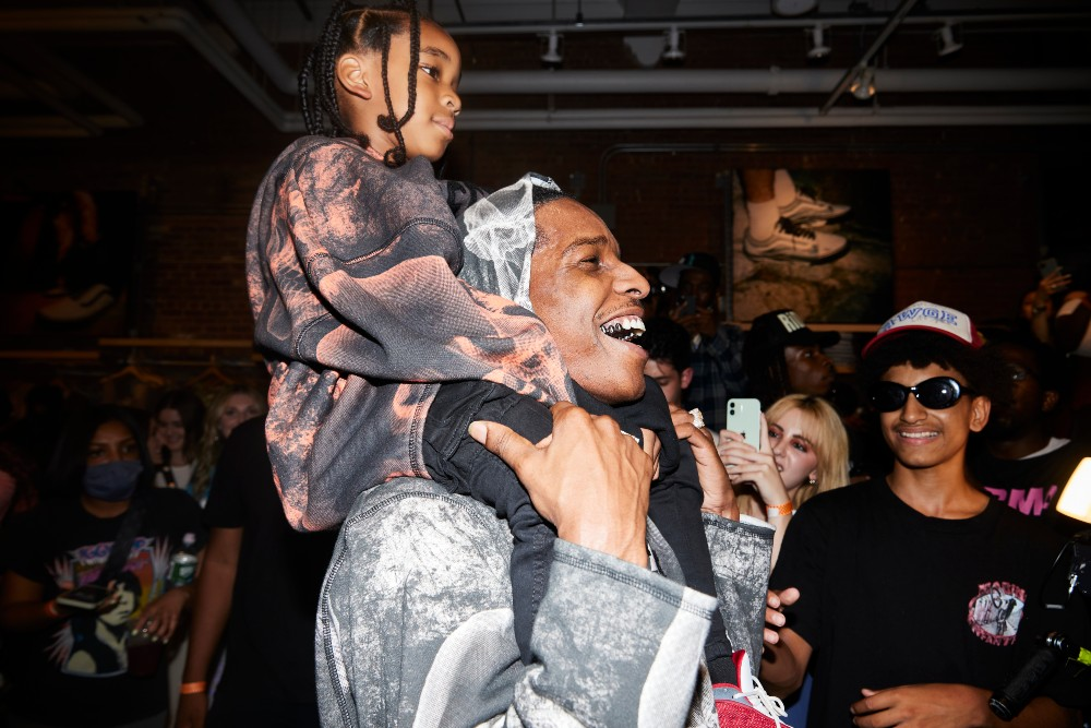 A$AP Rocky appeared in-person at a Manhattan Pacsun store to promote his recent Vans collaboration