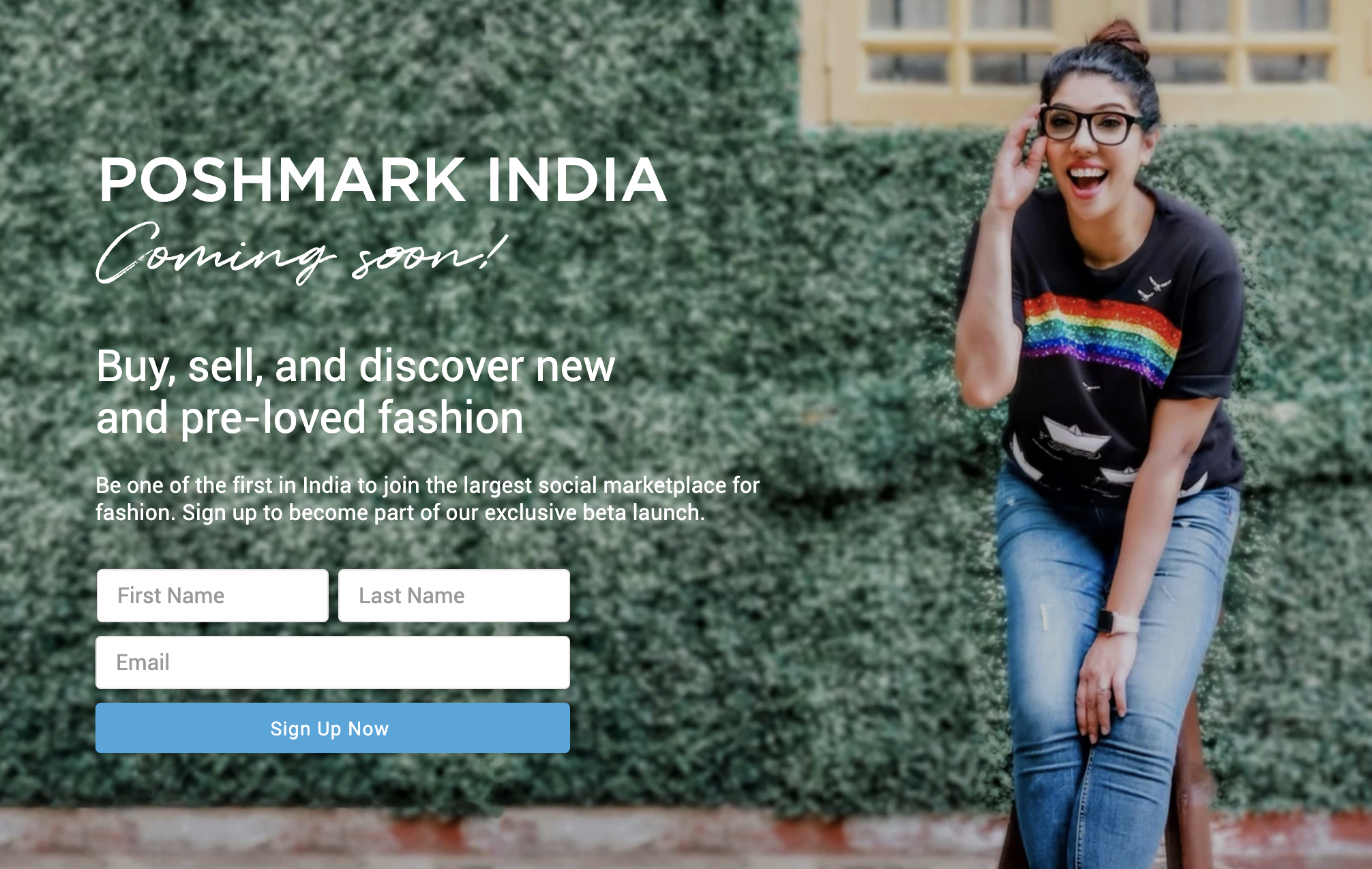 Poshmark is opening its peer-to-peer fashion shopping experience to its biggest potential audience yet, expanding its platform to India.