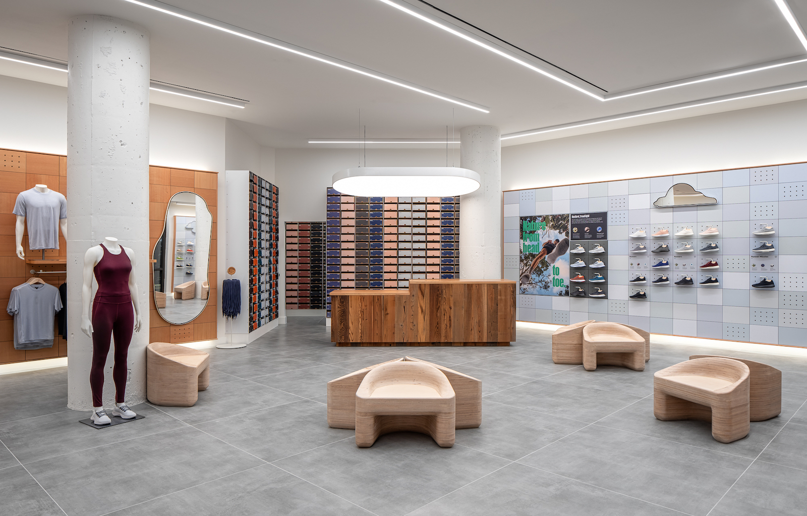 Allbirds debuted its newest retail store and community center experience in Atlanta's Ponce City Market.