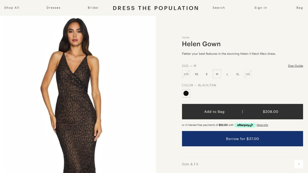 Women's fashion brand Dress the Population announced a partnership with CaaStle, enabling shoppers to borrow evening and bridal dresses.